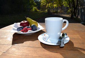 Kaffeepause im Herbst